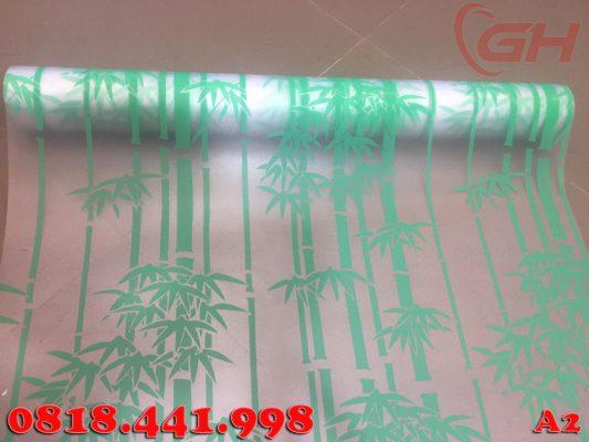 Giấy dán kính trang trí mẫu cây trúc xanh A2