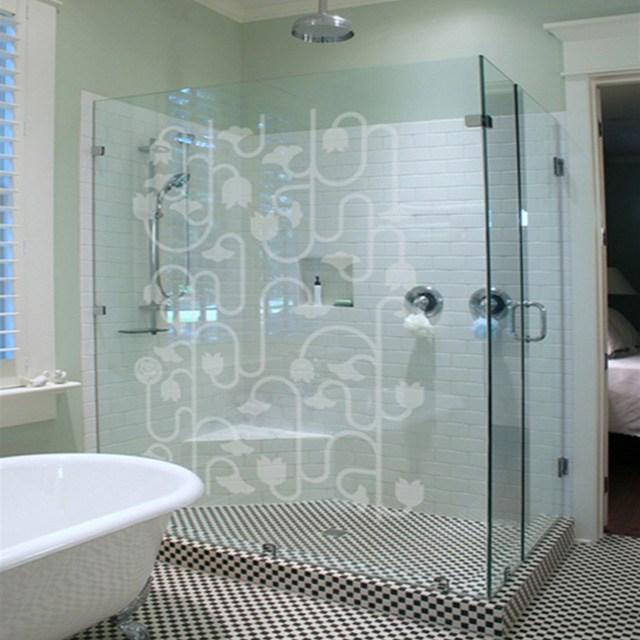 decal dán kính phòng tắm mẫu 1