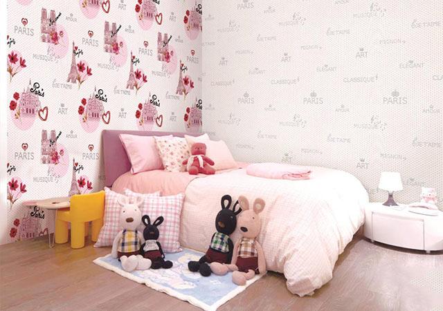 giấy dán tường phòng ngủ theo độ tuổi