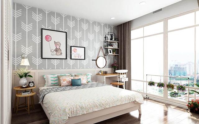 giấy dán tường phòng ngủ theo phong thuỷ