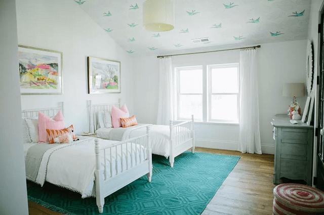 trang trí phòng ngủ bằng giấy dán tường 10