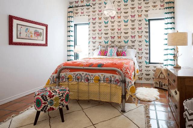 trang trí phòng ngủ bằng giấy dán tường 15