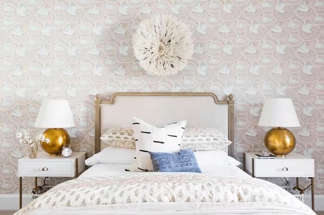 trang trí phòng ngủ bằng giấy dán tường 18