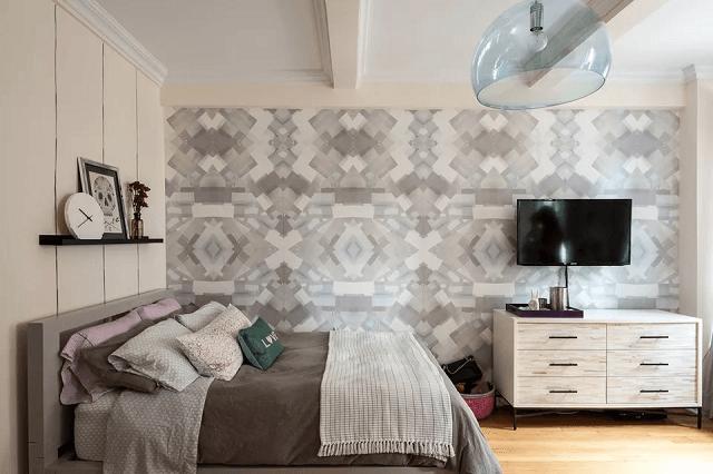 trang trí phòng ngủ bằng giấy dán tường đẹp