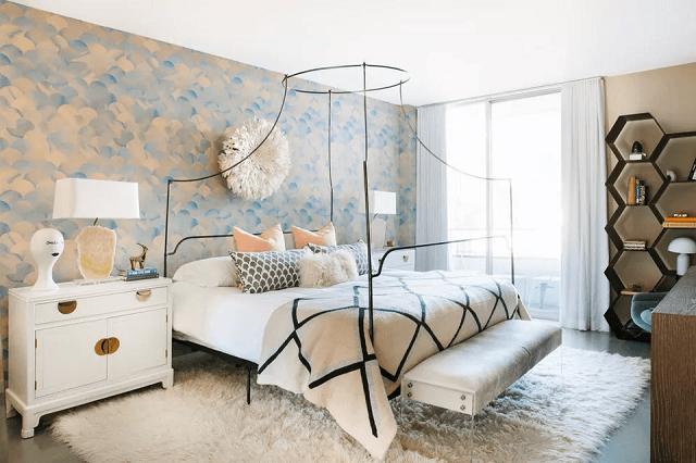 trang trí phòng ngủ bằng giấy dán tường 4
