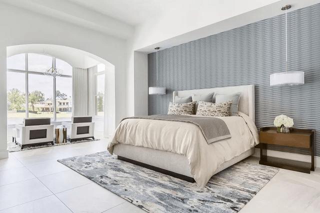trang trí phòng ngủ bằng giấy dán tường 5