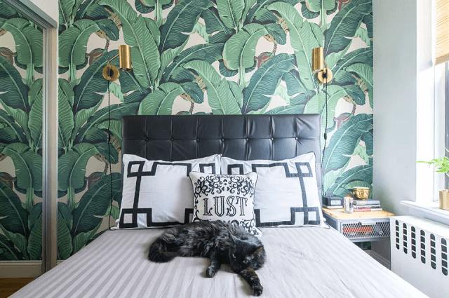 trang trí phòng ngủ bằng giấy dán tường 6