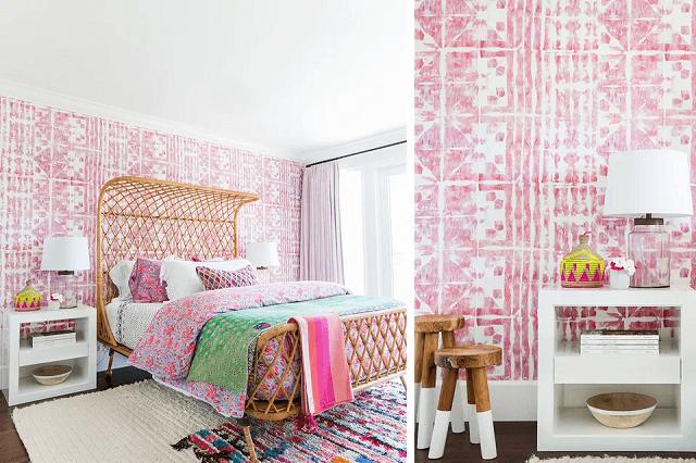 cách trang trí phòng ngủ bằng giấy dán tường bằng