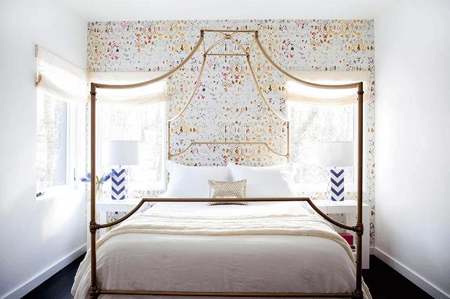 cách trang trí phòng ngủ bằng giấy dán tường đẹp