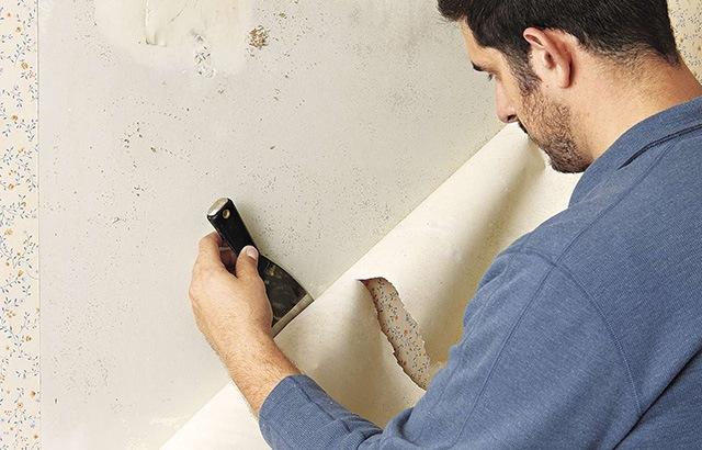 cách bóc giấy dán tường nhanh nhất