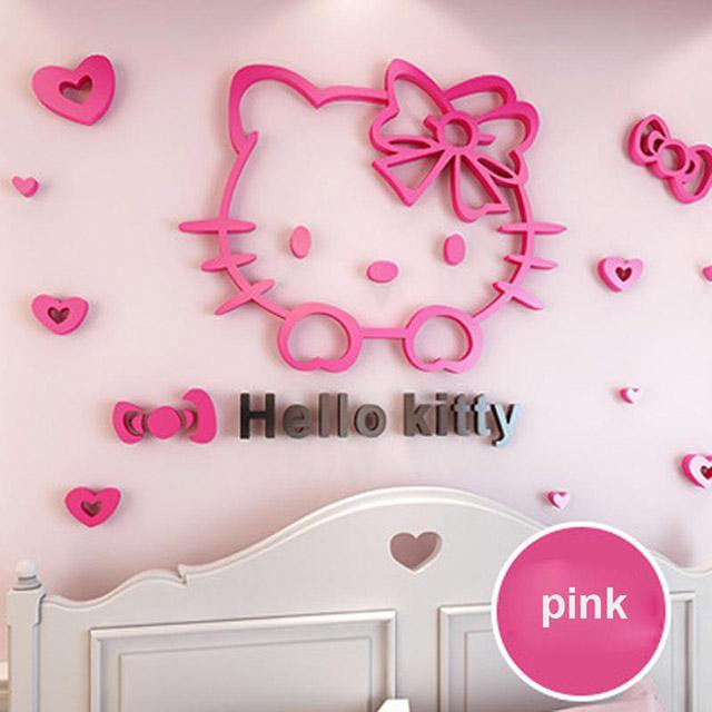 mẫu giấy dán tường kitty