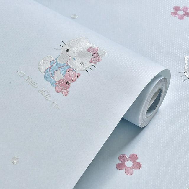 giấy dán tường kitty