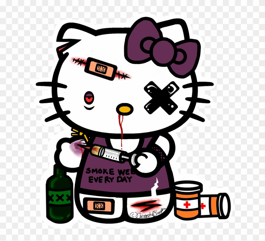 giấy dán tường hình hello kitty