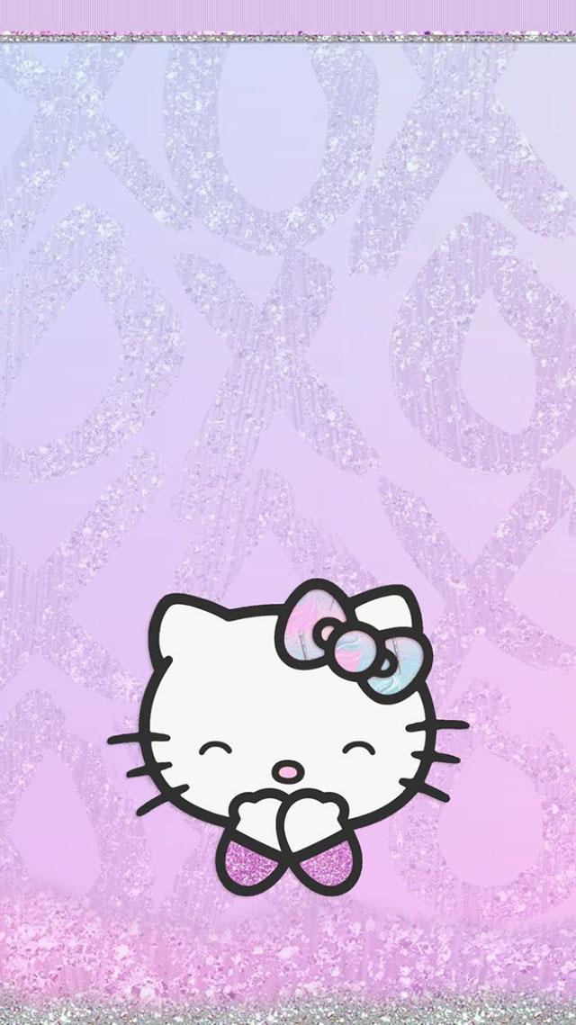 mẫu giấy dán tường hello kitty