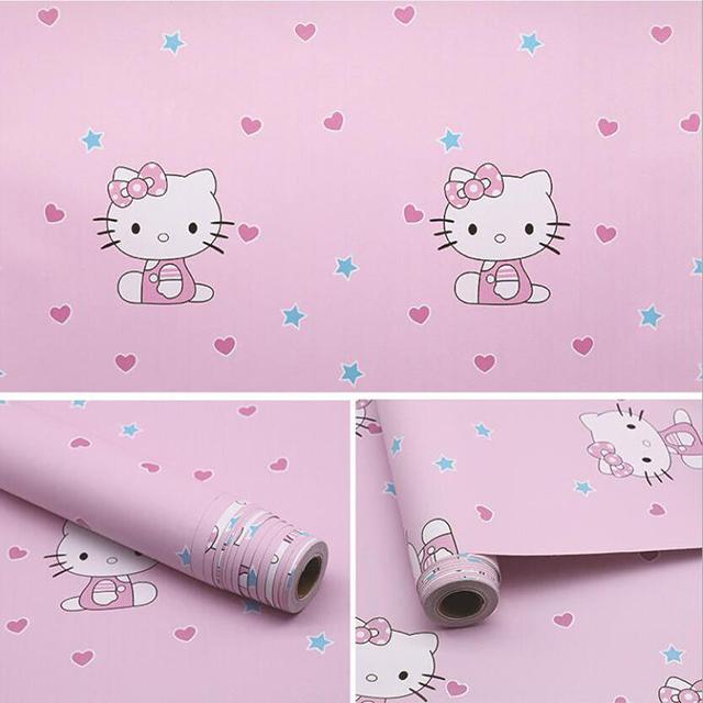 giấy dán tường hello kitty