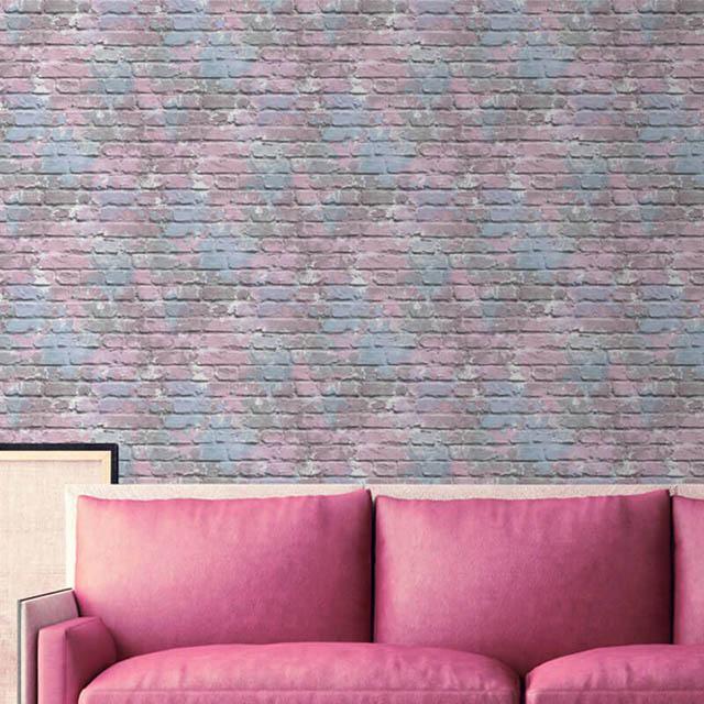 giấy dán tường màu hồng sang trọng