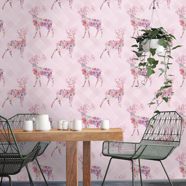 giấy dán tường màu hồng nhạt