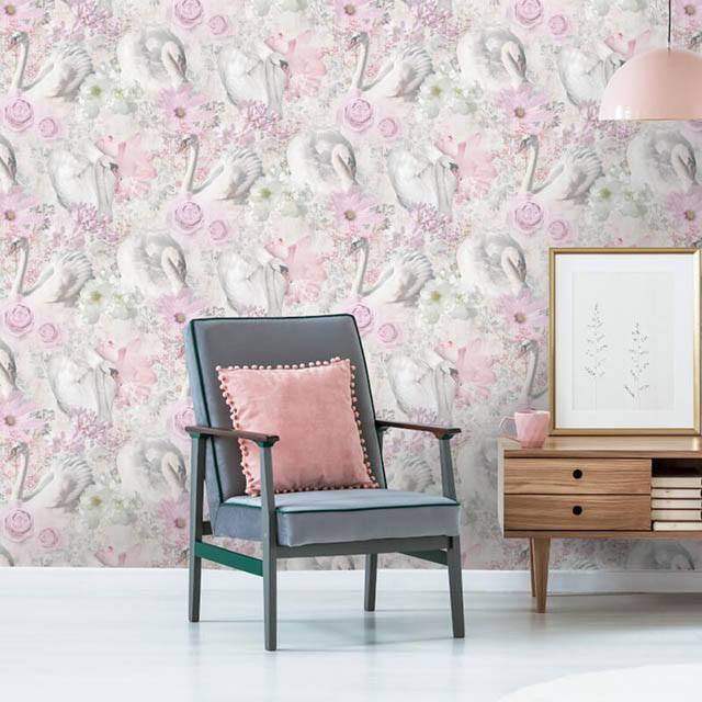 giấy dán tường màu hồng được ưa chuộng