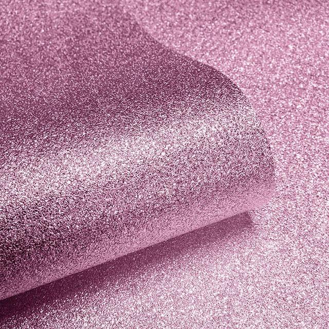 giấy dán tường màu hồng lấp lánh