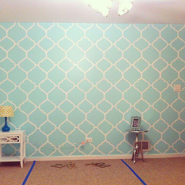 giấy dán tường màu xanh dương