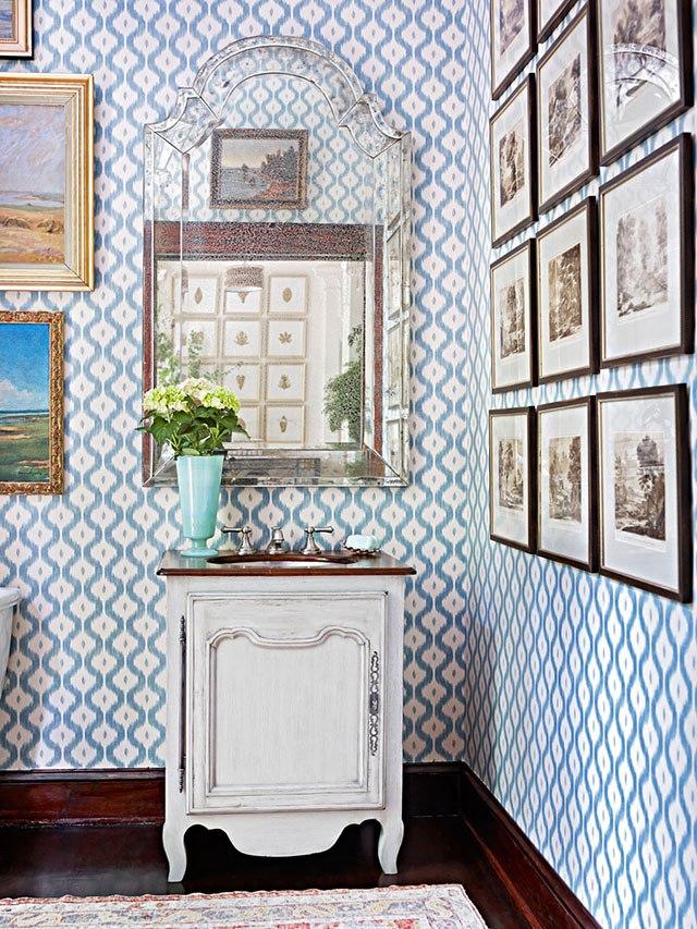 giấy dán tường màu xanh da trời