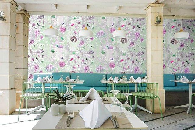giấy dán tường nhà hàng 4
