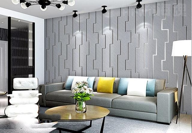 giấy dán tường phòng khách chung cư