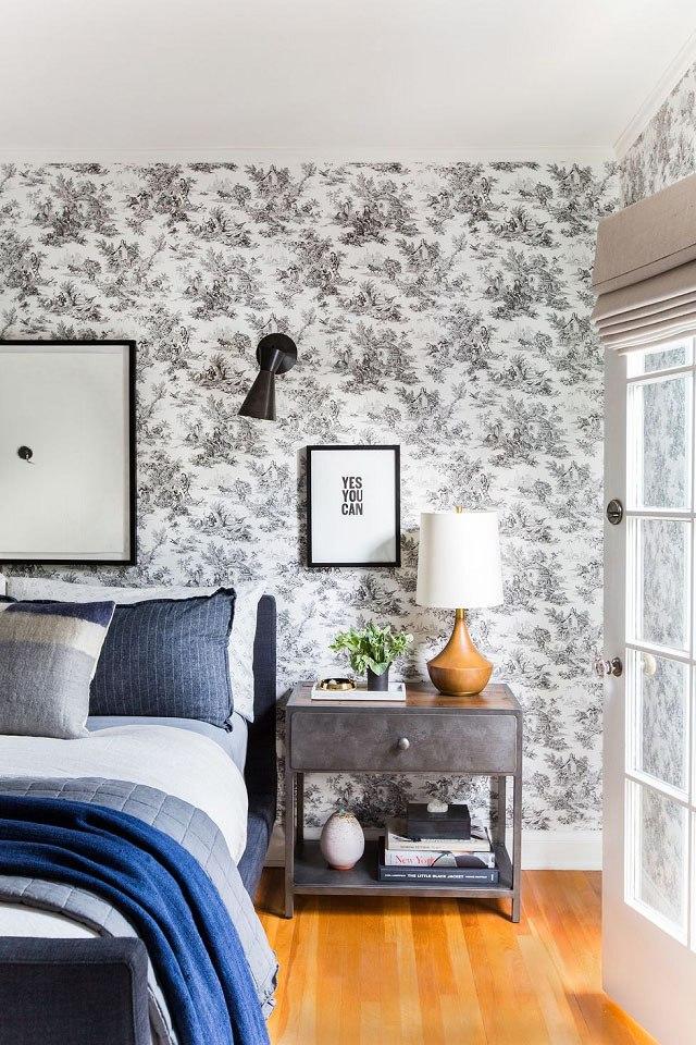 giấy dán tường phòng ngủ hiện đại 12