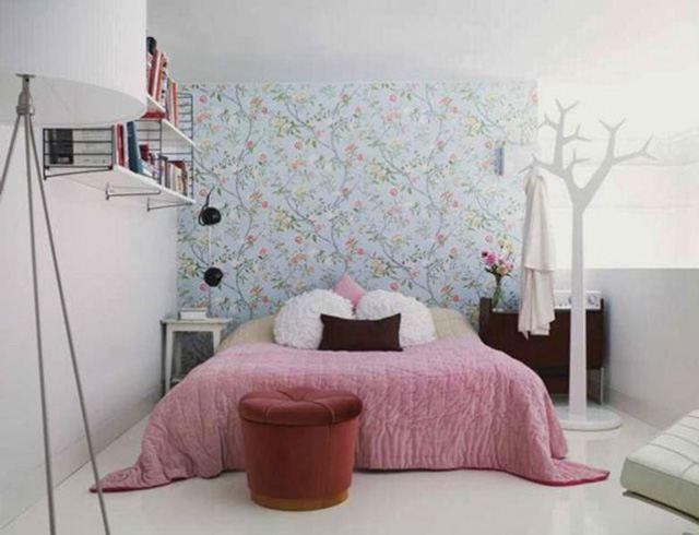 giấy dán tường phòng ngủ nhỏ 13