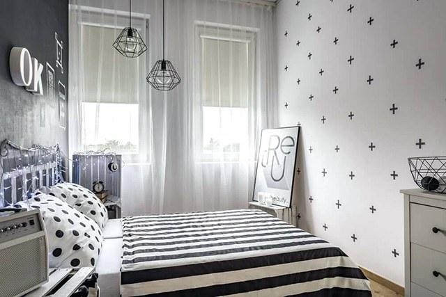 giấy dán tường phòng ngủ nhỏ 4