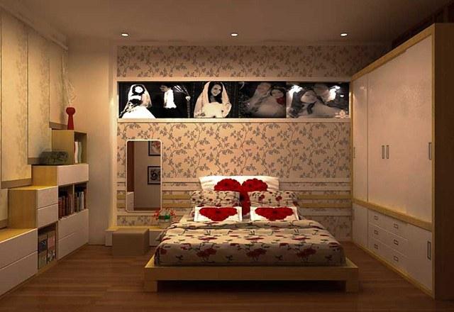 giấy dán tường phòng ngủ vợ chồng 7