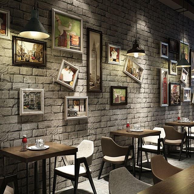 giấy dán tường quán cà phê 3