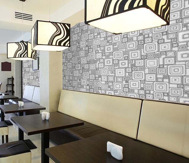 giấy dán tường quán cà phê 4