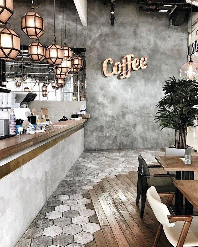 giấy dán tường quán cà phê 9