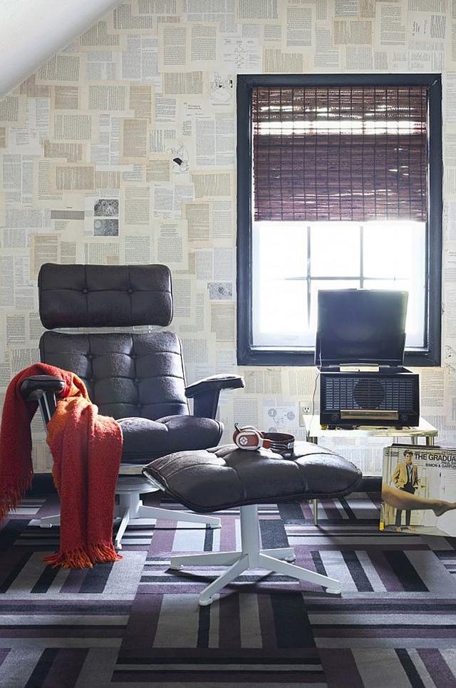 trang trí tường nhà bằng giấy báo 3
