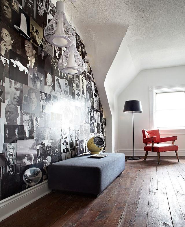 trang trí tường nhà bằng tạp chí