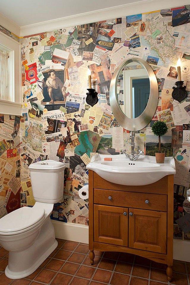 trang trí tường nhà bằng giấy báo 8