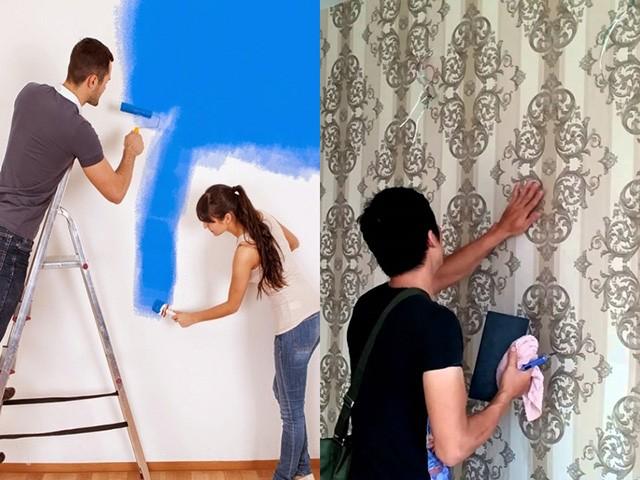 có nên dán giấy dán tường