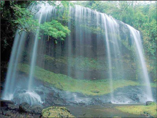 Decal phong cảnh thác nước