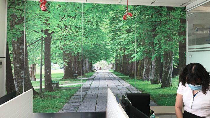 Decal phong cảnh cho các văn phòng