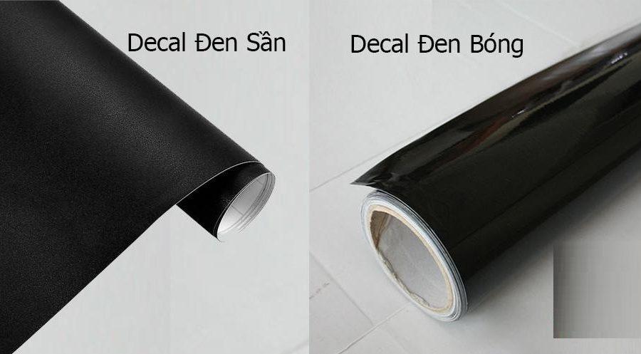 decal dán kính màu đen