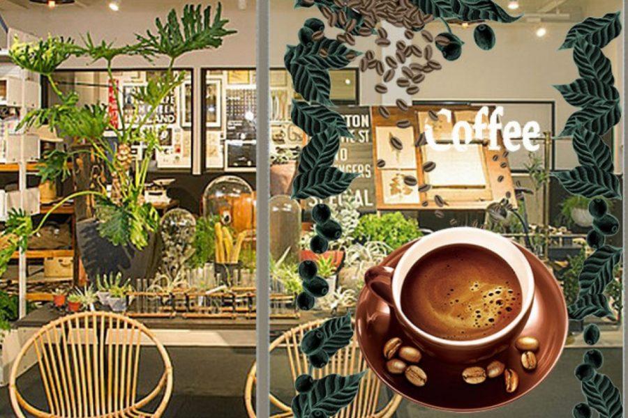decal dán kính quán cafe 2