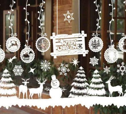 Decal trang trí Noel đẹp